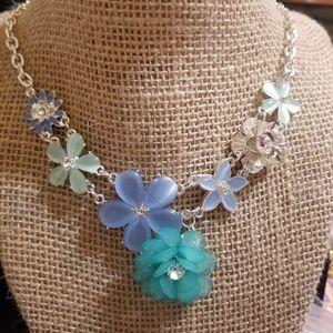 DECREE Floral Bib Necklace